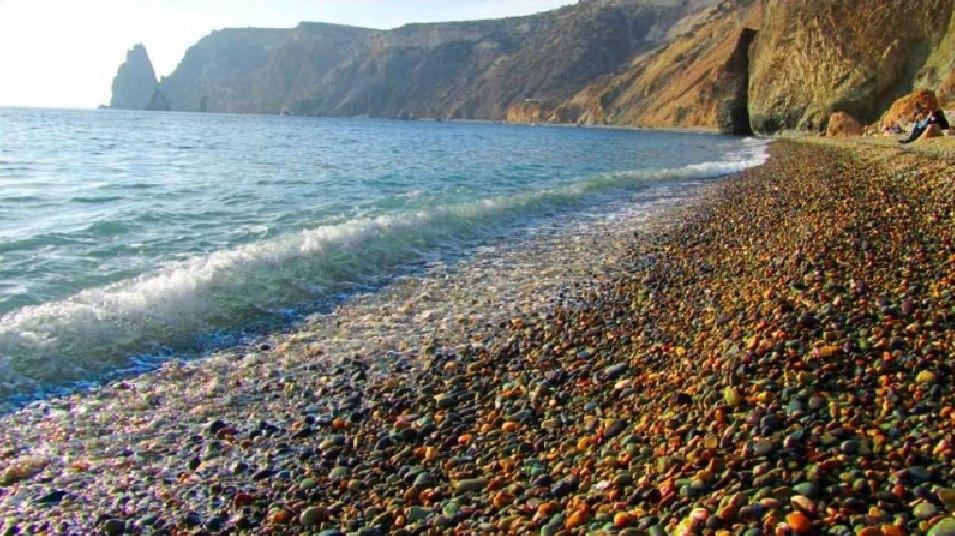 На фото – «Яшмовый» пляж